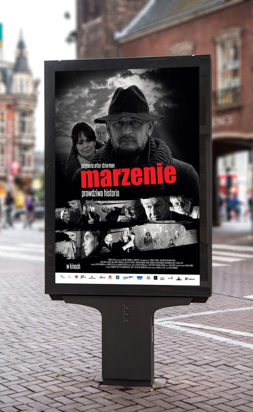 Uliczny Billboard plakatu - wizualizacja