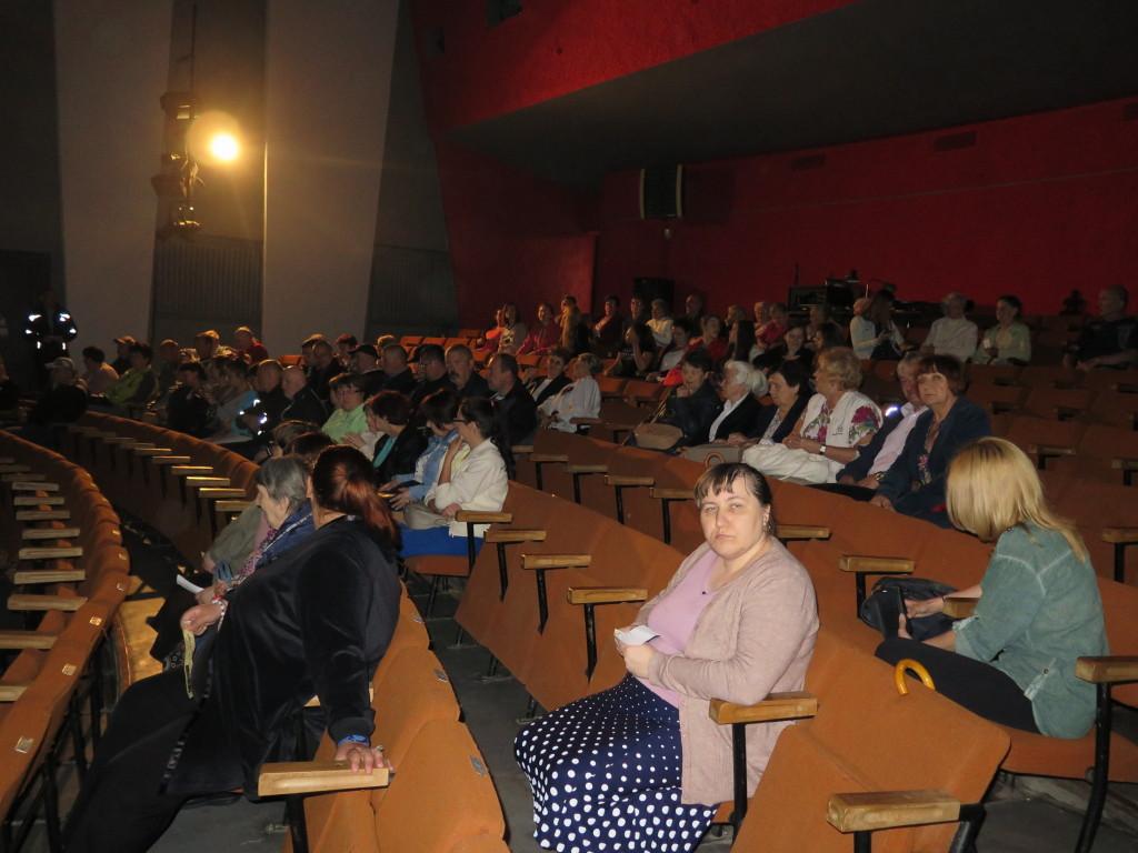 Publiczność przed spektaklem.