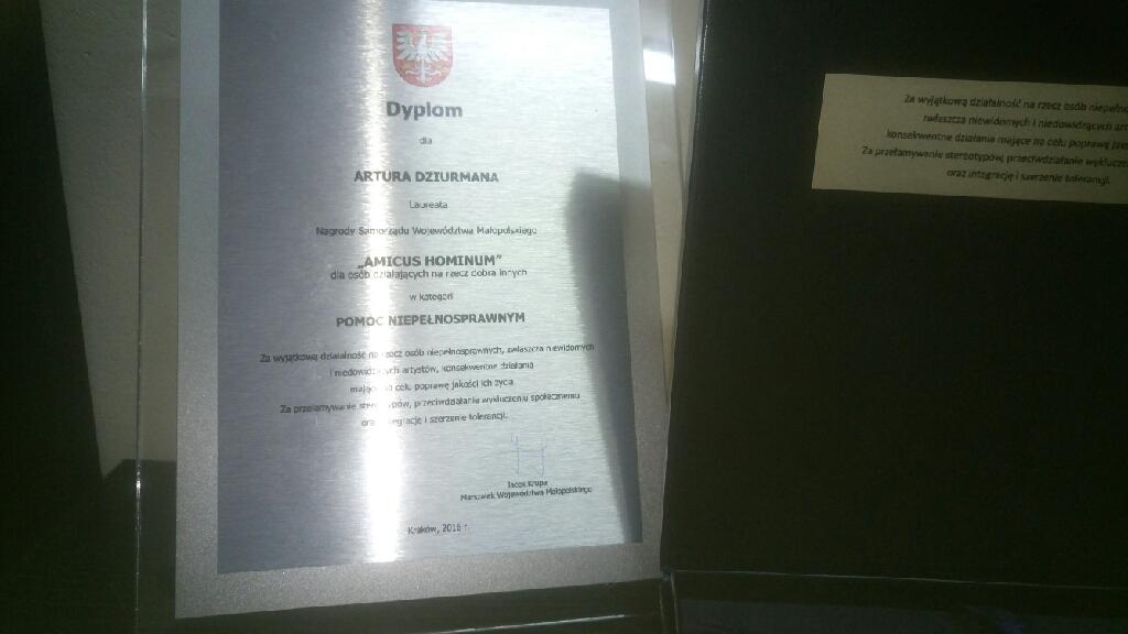 Dyplom dla artura dziurmana