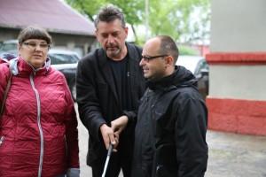 Monika ,Krzysiek i rezyser w Jaworznie