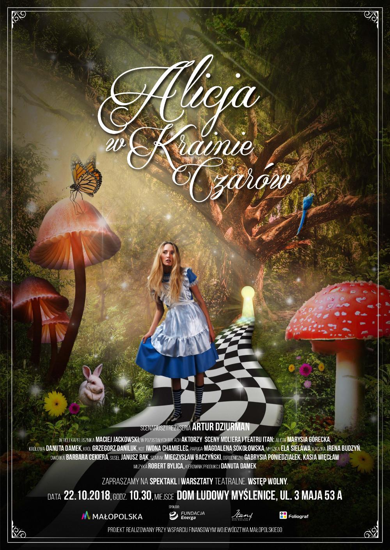 Plakat spektaklu Alicja w Krainie Czarów